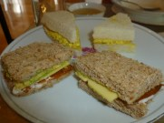 Vegan finger sandwiches, Muir's Tea Room, Sebastopol, California