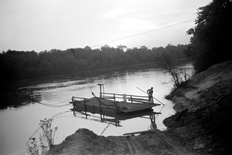 """Simple cable ferry, Gee's Bend, Alabama, 1939"" by Marion Post Wolcott."