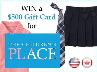win $500 gc from the children's place