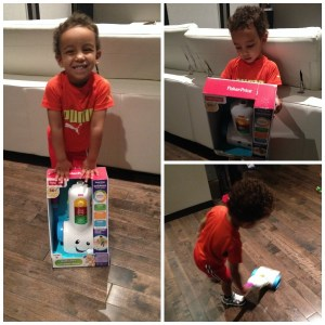 Helping Around the House With Fisher Price Smart Stages Vacuum #Giveaway