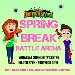 Dartpocalypse Nerf Battle Event at Winakwa Community Centre