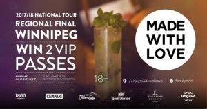 Win VIP Passes for the MadewithLove Mixology Event Winnipeg