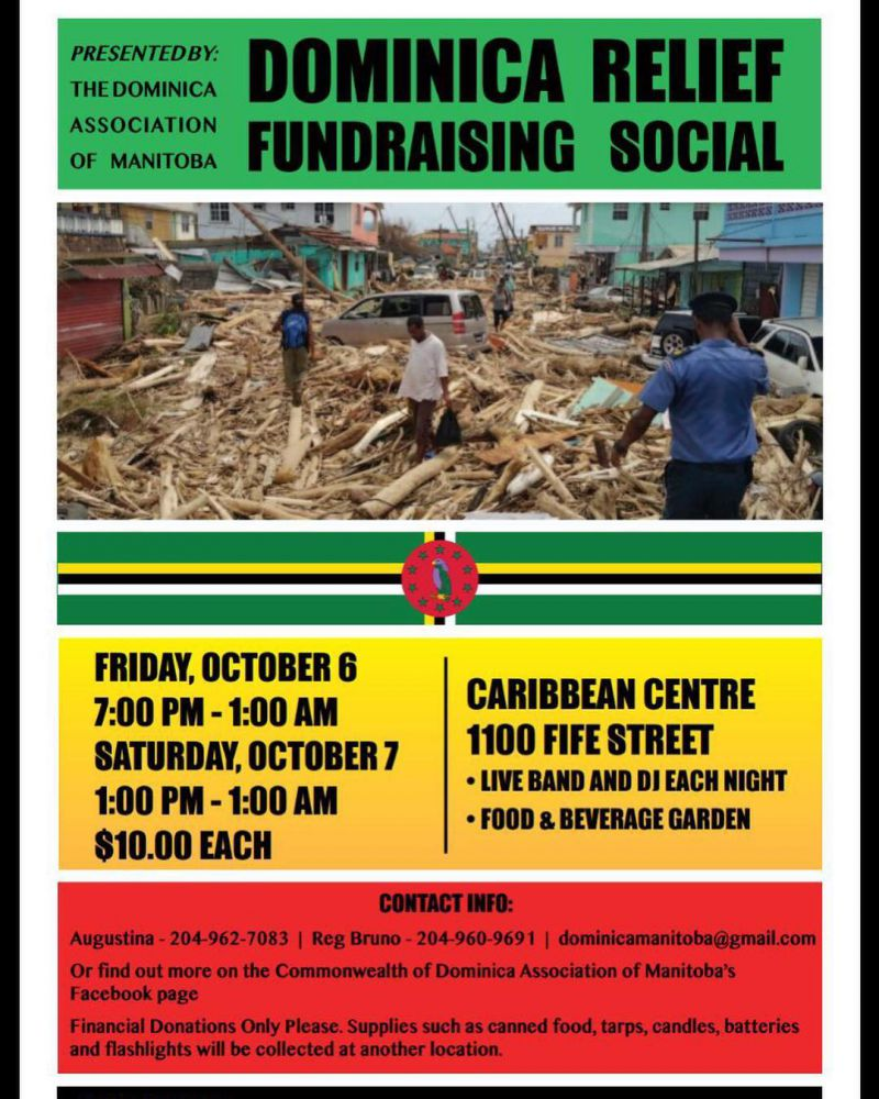 Help Support Dominica Relief Efforts in Winnipeg
