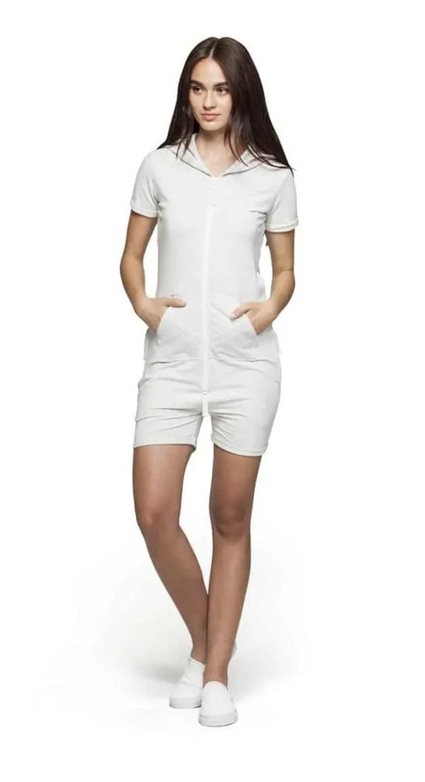 OnePiece Fitted Short Onesie Jumpsuit White