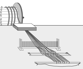 Weaving with a Warping Drum E