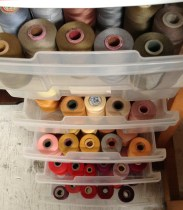 My spools of weaving thread - Peggy Osterkamp