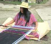 10.11 weaver with black warp