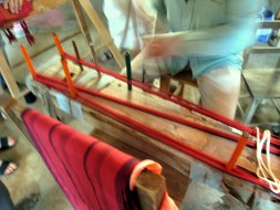 5.8 measuring red threads on warping board