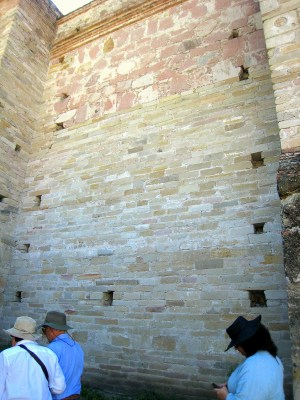 6.3 stones of wall of church, different types of stones