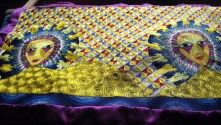Contemporary embroidery artist - Beautiful work, original design, all done by hand with chain stitch with crochet hook