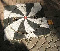 03.5 black and white manhole cover