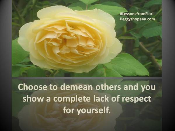 Respect Demean others