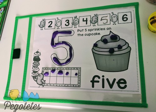 enseñar números con plastilina