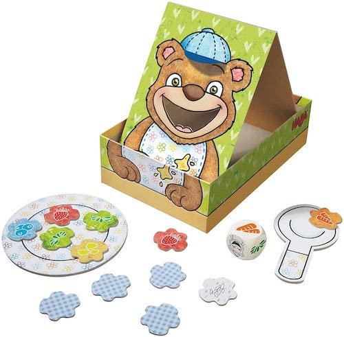 """Componentes del juego de mesa para niños """"Hungry as a Bear"""""""