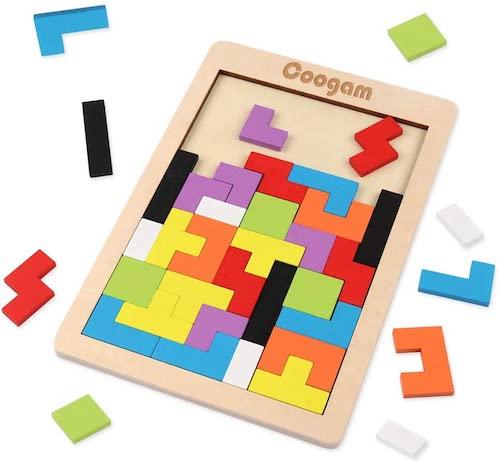Tetris de madera, juguete de 3 años