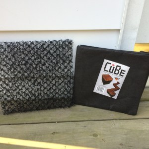 DekProTek on left and a CuBe, folded with tag, on right