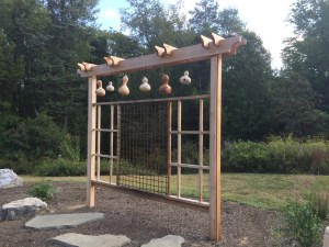 check out the new structures at Green Spring Gardens