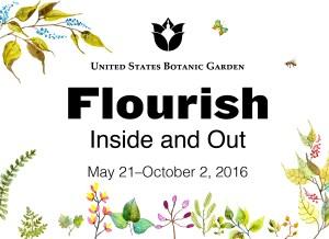 Flourish- Inside and Out exhibit logo - U.S. Botanic Garden