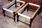 The stool frames ready for upholstering.