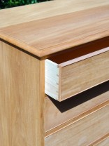 The cockbeading glued around the drawer fronts.