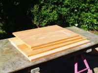 The four chest panels consist of two boards each, rubbed together.