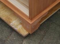 Base moulding and bracket foot.