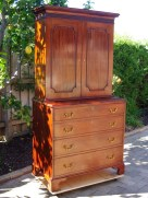 The completed cabinet-on-chest.