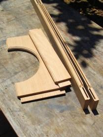 Moulded frame components.