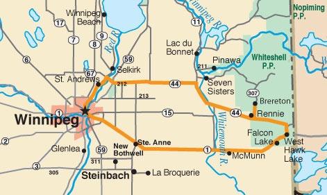 Map - Southeastern Manitoba