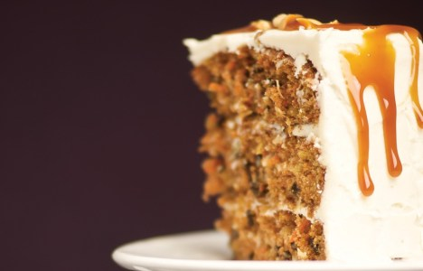Carrot Cake with Maple Cream Cheese Icing by Chef Gord Harris of Prairie Ink Restaurant and Bakery