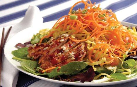 Korean Chicken Cold Noodle Salad by Damian Belanger of Bon Vivant!