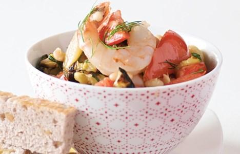 Scampi with Walnut Focaccia by Chef Grant Mitchell of Nicolino's