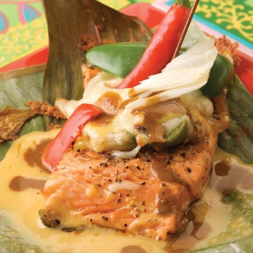 Salmon Filets with Mole Sauce by Chef Dario Pineda-Gutierrez of Café Dario
