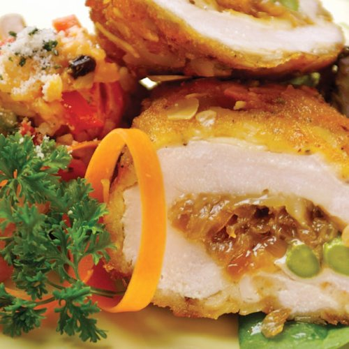 Almond-Crusted-Stuffed-Chicken-Breast by Chef Greg Anania of Bellissimo
