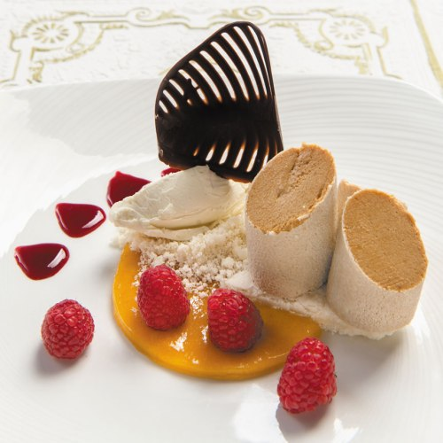 Caramelized White Chocolate Mousse by Jane's Restaurant