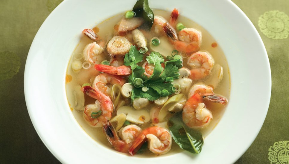 Tom Yum Goong Soup by Chef/Owner Tsai Lin of Bangkok Thai