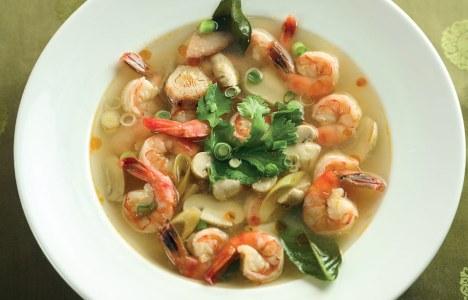 Tom Yum Goong Soup by Chef/Owner Tsai Lin of Bangkok Thai