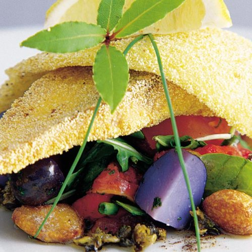 Cornmeal Crusted Baby Pickerel and Rainbow Trout