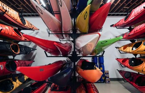 Canoe Display at Wilderness Supply Co. Winnipeg