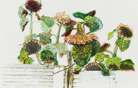 Russell Yuristy, Sunflowers, 1978, Silkscreen, photo Leif Norman