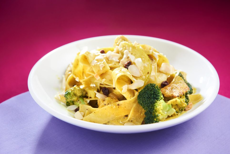 curry cream pappardelle Cafe Carlo