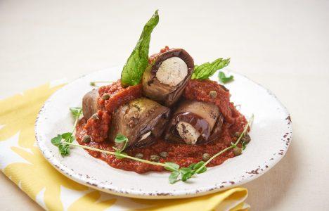 Eggplant roulade by Blaze Restaurant