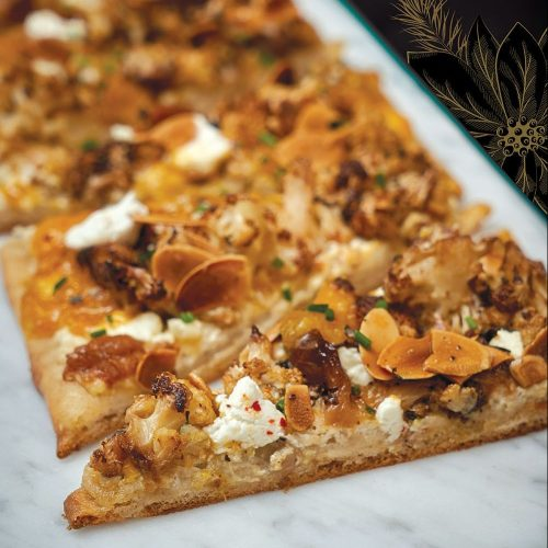 Cauliflower flatbread by Karli Smith of Cordova