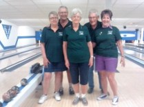 65+ Bowlers- C Hill, R hill, E Somers, A Somers, E Arnold