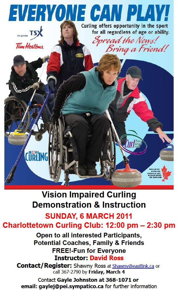 Vision Impaired Curling Demo And Instruction Peicurling