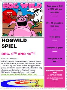 Montague Hogwild spiel Friday eve., Saturday still has openings!