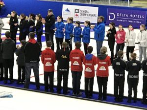 PEI U16 curlers pick up experience on arena ice at Fredericton spiel