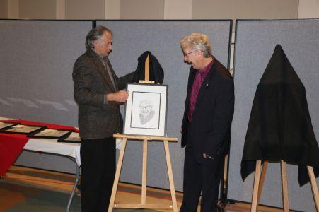 Mark Butler with Wayne Wright