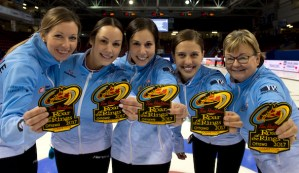 Team McCarville clinches berth in Tim Hortons Roar of the Rings (Curling Canada)