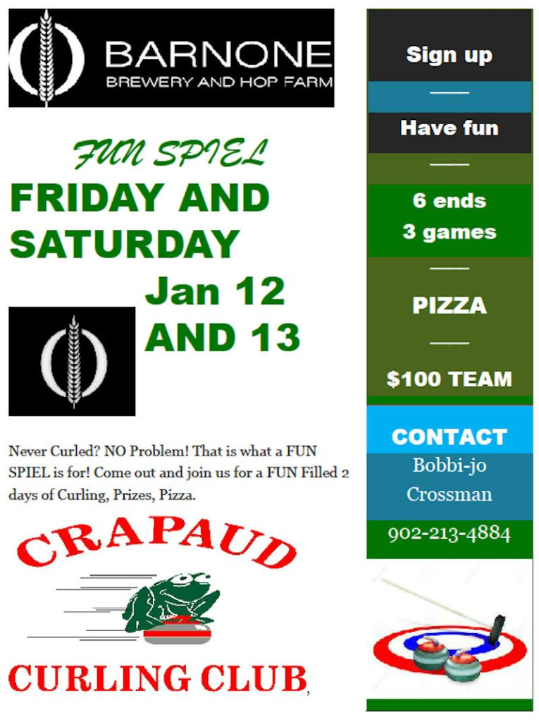 BARNONE Funspiel @ Crapaud Community Curling Club